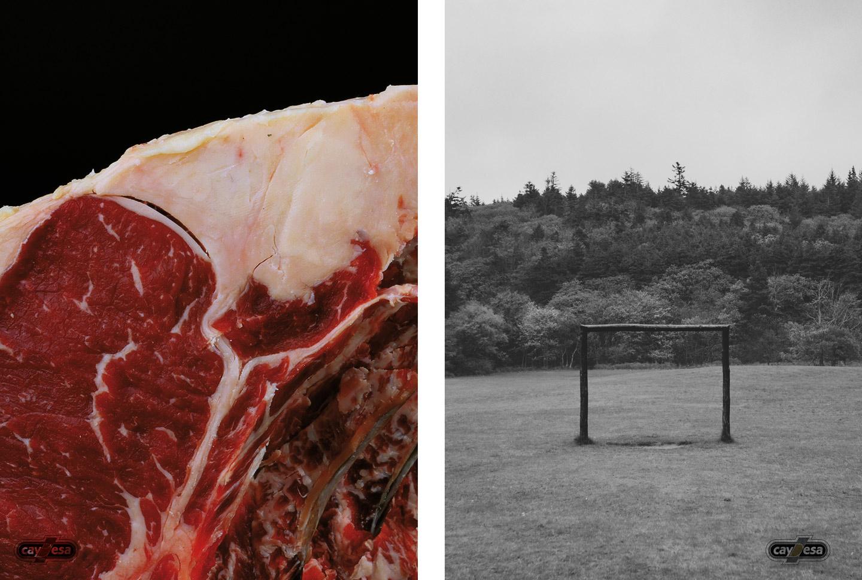 Paisaje irlandés, carnes maduradas